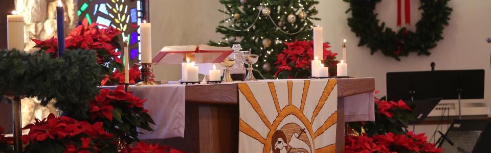 altar christmas eve